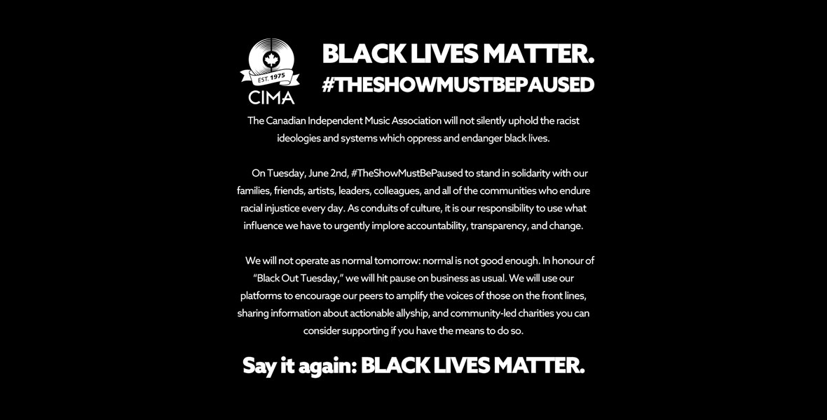#TheShowMustBePaused because Black Lives Matter