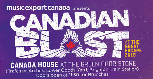 Canadian Blast at Great Escape 2016-advert