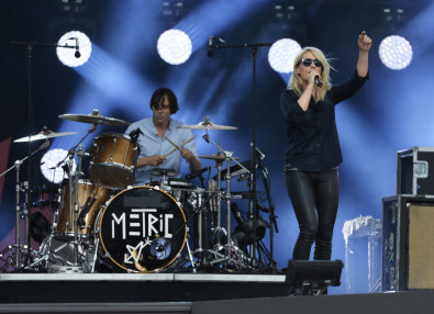 Metric performing in Ottawa on Friday, July 1, 2016.