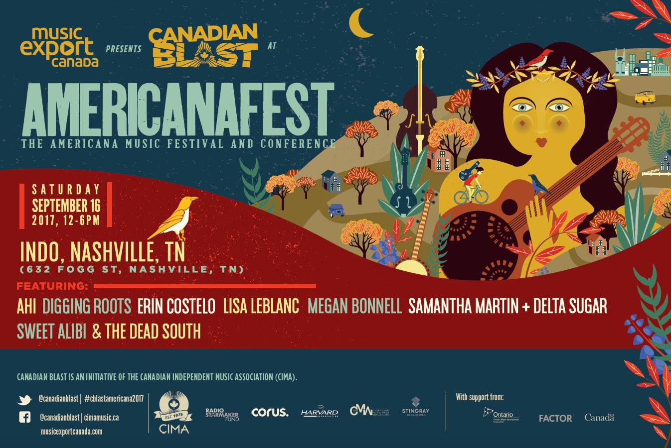 Music Export Canada presents: Canadian Blast at Americana